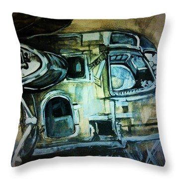 Ghost Plane Throw Pillow