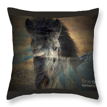 Ghost Pony Throw Pillow