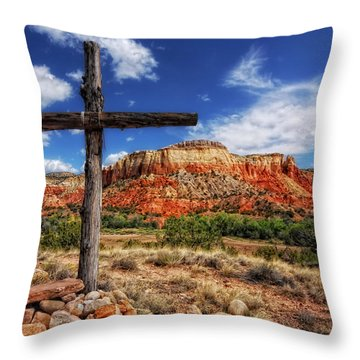 Ghost Ranch Cross Throw Pillow