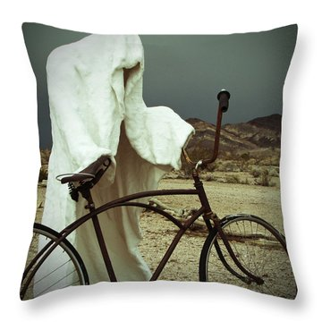 Ghost Rider Throw Pillow by Marcia Socolik
