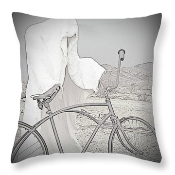 Ghost Rider Sketch Throw Pillow by Marcia Socolik