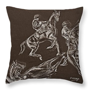 Ghost Riders In The Sky Throw Pillow