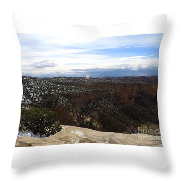 Ghost Rock Canyon Throw Pillow