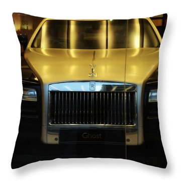 Rolls Royce Ghost Throw Pillow