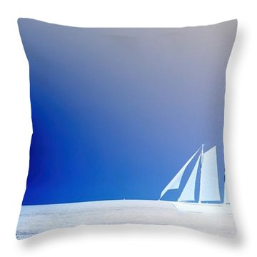 Ghost Ship II Throw Pillow by Pamela Blizzard