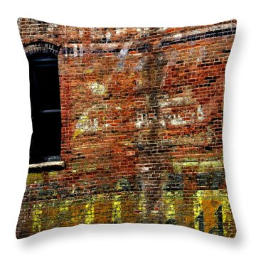 Ghost Sign 13469 3 Throw Pillow by Jerry Sodorff