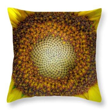 Ghost Sunflower Throw Pillow