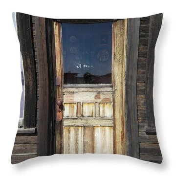 Ghost Town Handcrafted Door Throw Pillow by Daniel Hagerman