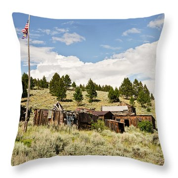 Throw Pillow featuring the photograph Ghost Town In Summer by Sue Smith