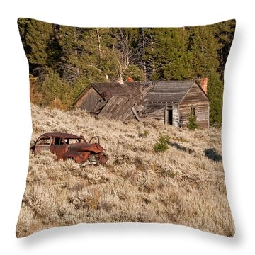 Ghost Town Remains Throw Pillow