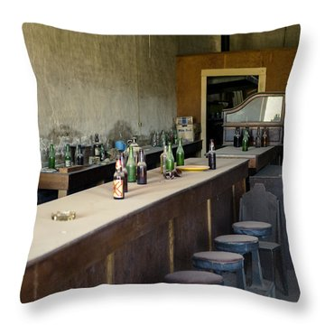 Ghost Town Saloon Throw Pillow