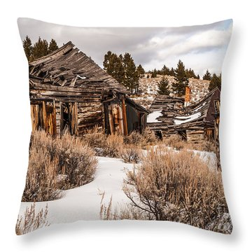 Ghost Town Throw Pillow by Sue Smith