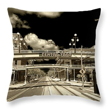 Ghost Town Ybor City Throw Pillow
