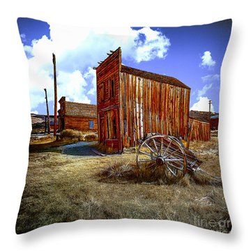 Ghost Towns In The Southwest Throw Pillow by Bob and Nadine Johnston