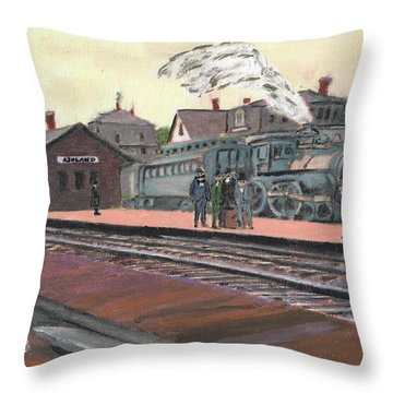 Ghost Train Throw Pillow by Cliff Wilson