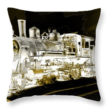 Ghost Train Throw Pillow
