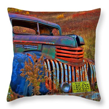 Ghost Truck Throw Pillow by Alana Ranney
