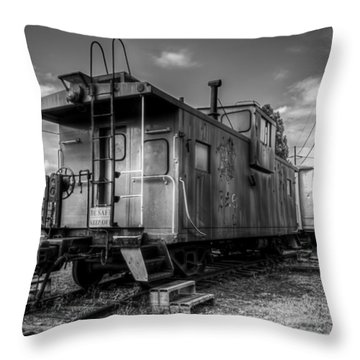 Ghostly Caboose Throw Pillow by James Barber