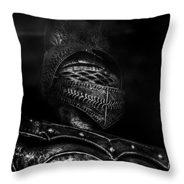 Ghostly Knight Throw Pillow