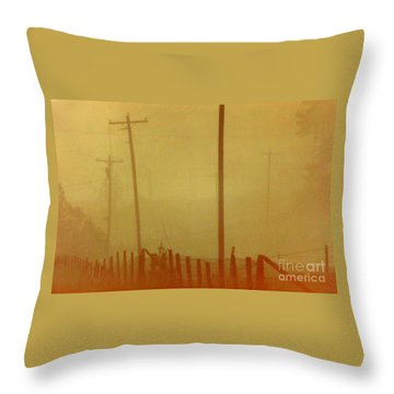 Throw Pillow featuring the photograph Mississippi Ghostly Morning by Michael Hoard