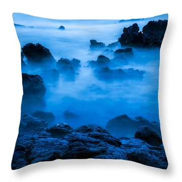 Ghostly Ocean 1 Throw Pillow by Leigh Anne Meeks