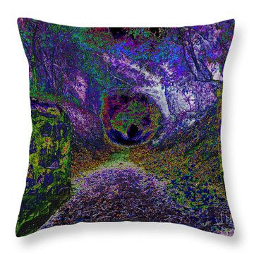 Ghostly Walkway Throw Pillow by Pete Moyes