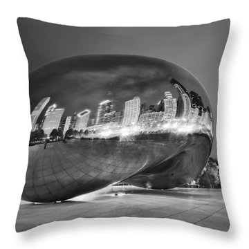Ghosts In The Bean Throw Pillow by Adam Romanowicz