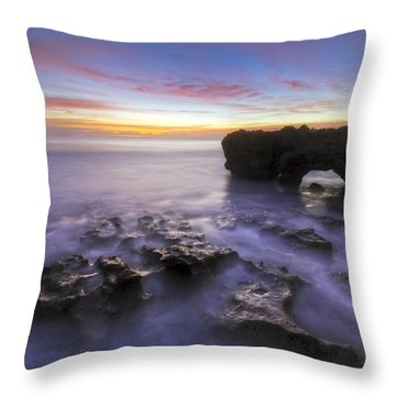 Ghosts In The Cove Throw Pillow by Debra and Dave Vanderlaan