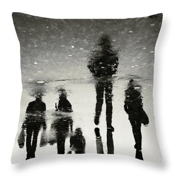 Ghosts Of The City Throw Pillow