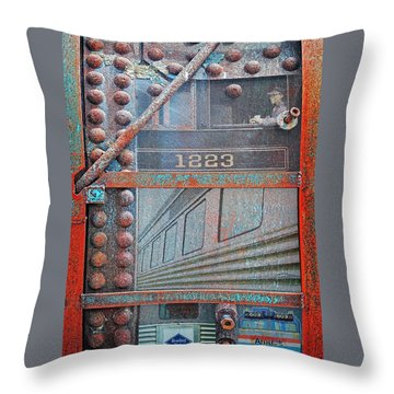 Ghosts Of The Railroad Throw Pillow