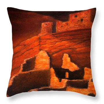 Ghosts Of White House Ruins Throw Pillow by Jerry McElroy