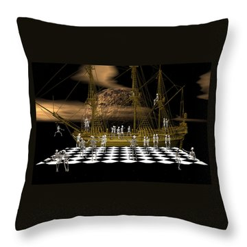 Ghostship Gala 2 Throw Pillow