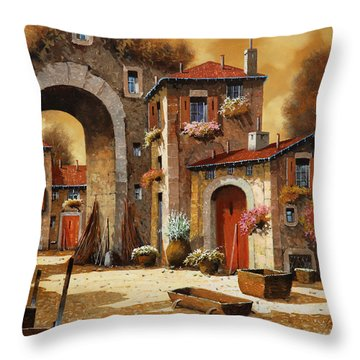 Giallo Throw Pillow by Guido Borelli