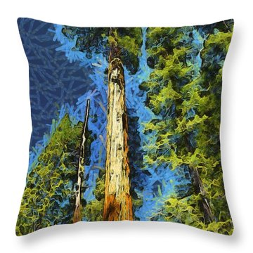 Giant Along The Trail Abstract Throw Pillow