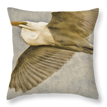 Giant Beauty In Flight Throw Pillow by Deborah Benoit
