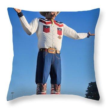 Giant Cowboy Big Tex State Fair Of Texas Throw Pillow