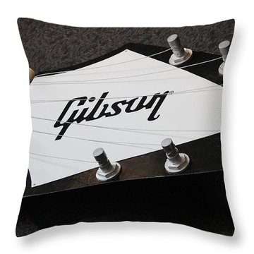 Giant Gibson Guitar Throw Pillow