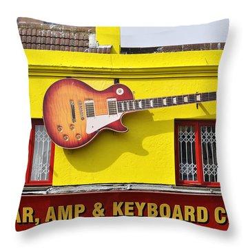 Giant Gibson Les Paul Throw Pillow