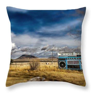 Giant Idaho Radio Tilt Shift Throw Pillow by For Ninety One Days