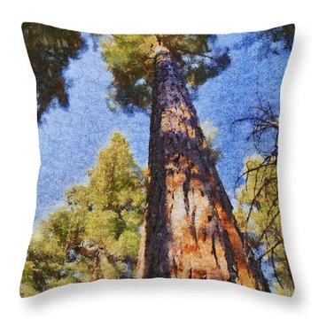 Giant Sequoia Pastel Throw Pillow