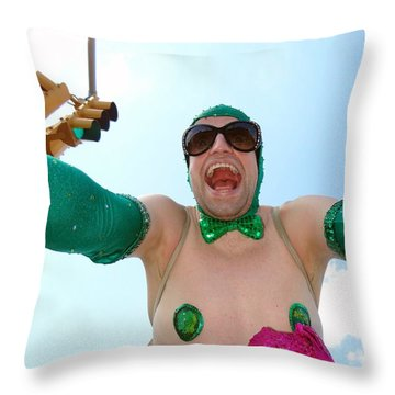Throw Pillow featuring the photograph Giant Smile by Ed Weidman