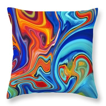 Giant Squid Throw Pillow by Chris Butler