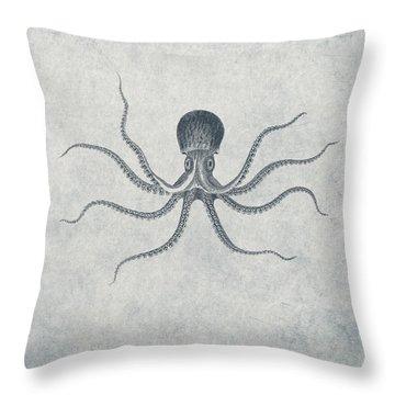 Giant Squid - Nautical Design Throw Pillow