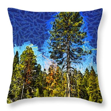 Giant Tree Abstract Throw Pillow