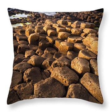 Giant's Causeway Bricks Throw Pillow by Inge Johnsson