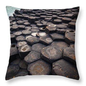 Giant's Causeway Pillars Throw Pillow by Inge Johnsson