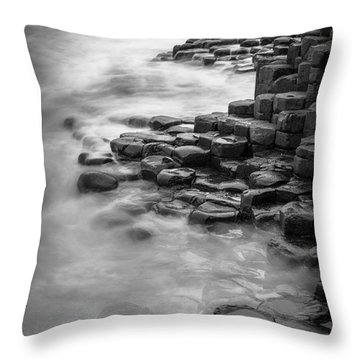 Giant's Causeway Waves  Throw Pillow by Inge Johnsson
