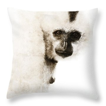 Crested Gibbon #1 Throw Pillow