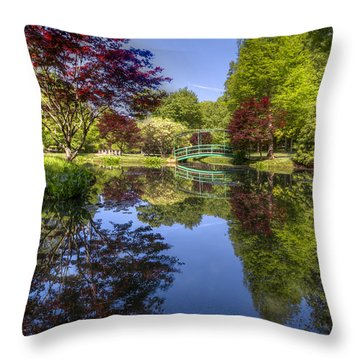 Gibbs Garden Throw Pillow by Debra and Dave Vanderlaan