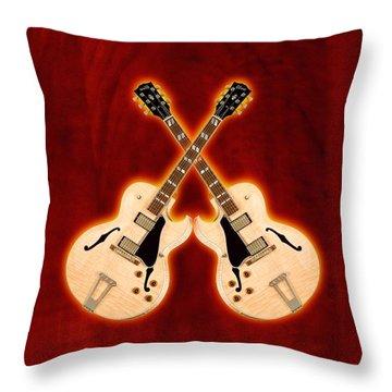 Gibson-es-175 Throw Pillow by Doron Mafdoos